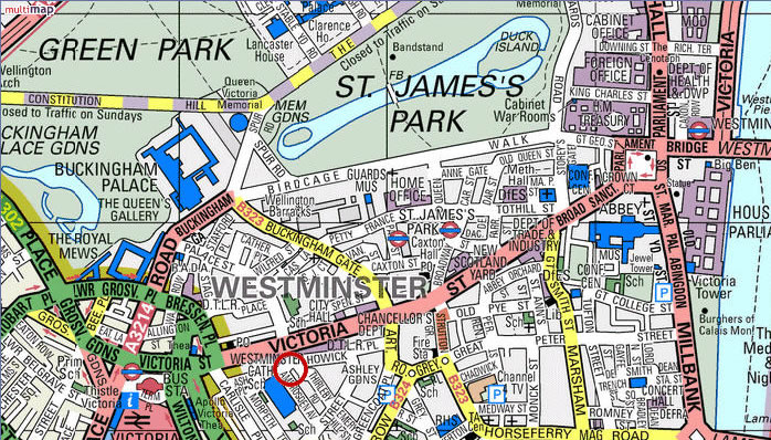London Sw Map.Maps And Aerial Photos Of 23 Ashley Gardens Westminster London S W 1